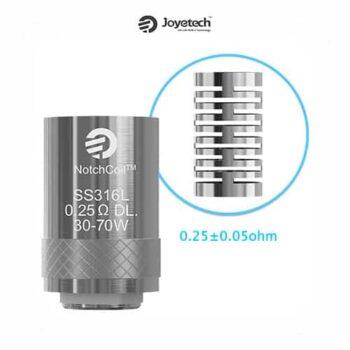 Joyetech-Resistencia-NotchCoil-0,25-ohm-DL.-(Pack-5)-Tapervaper