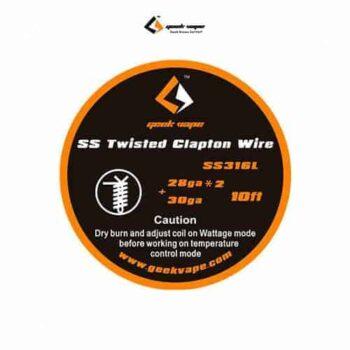 Geekvape-Bobina-SS-Twisted-Clapton-Wire-SS316L-28GAx2+30GA-Tapervaper
