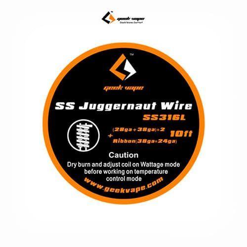 Geekvape-Bobina-SS316-Juggernaut-(28GA+38GA)x2+Ribbon(38GAx24GA)-Tapervaper