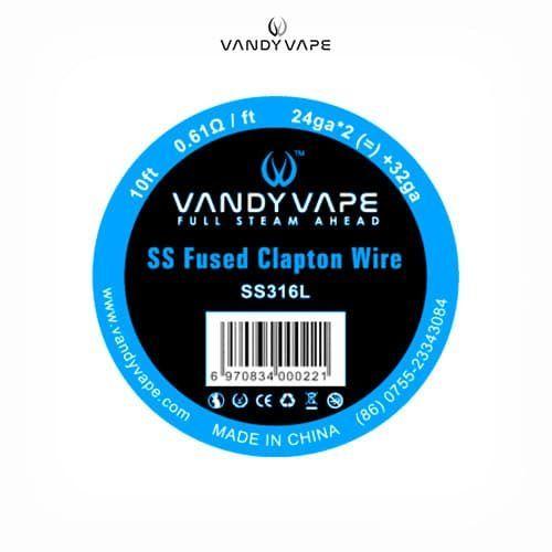 Vandyvape-Bobina-SS316-Fused-Clapton-24AWGx2+32AWG-Tapervaper
