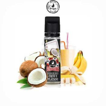 Poker-Fruits-Batido-de-Coco-Plátano-(Booster-50ml)---Drops-Tapervaper