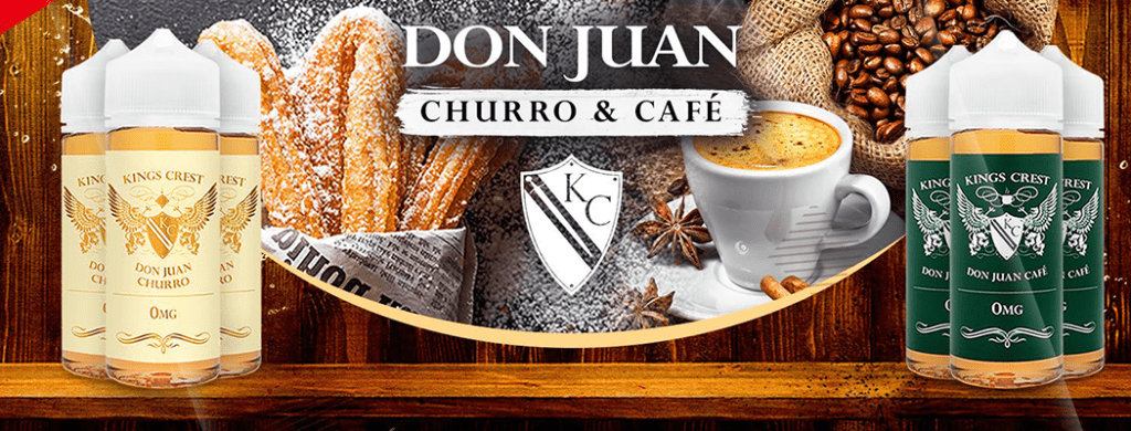kings-crest-don-juan-cafe-churros-tapervaper-distribuidor-oficial
