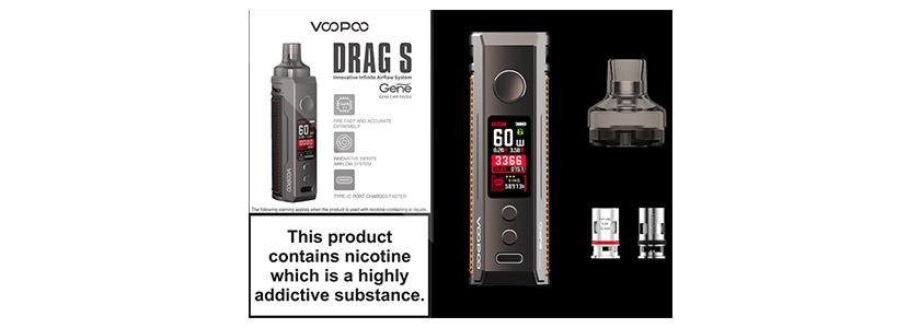 voopoo drag s mod pod kit imagen contenido productos ecigs